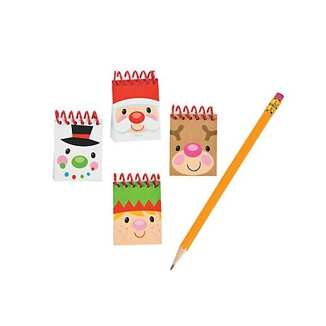 Mini Christmas Character Notepads