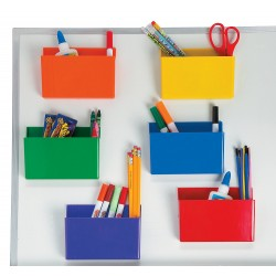 Coloured Magnetic Storage Boxes -6 set