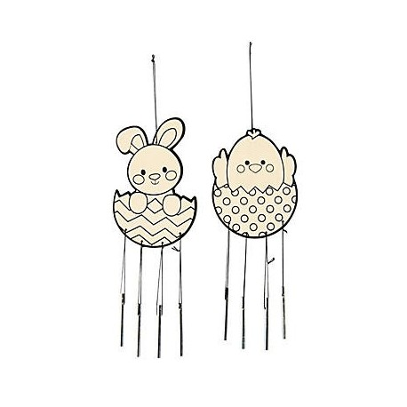Colour in Easter Wind Chimes 10 pack