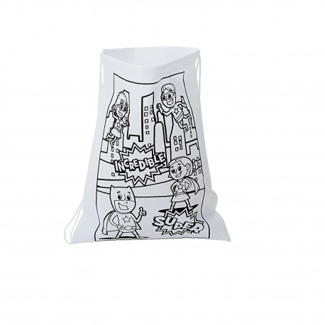 Colour Your Own Super Hero Library Bag