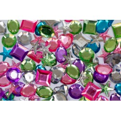 Self Adhesive Gems Pastel -500pack