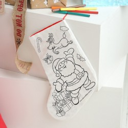 Colour Your Own Christmas Stocking - Santa