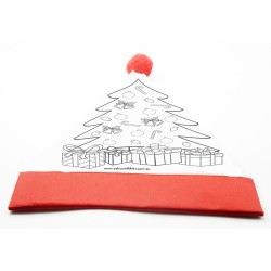 Colour Your Own Christmas  Hat - Santa