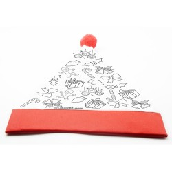 Colour Your Own Christmas  Hat - Candy Canes