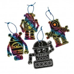 Magic Scratch Robots - 24 pack