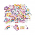 Rainbow & Unicorn Adhesive Shapes -300pack