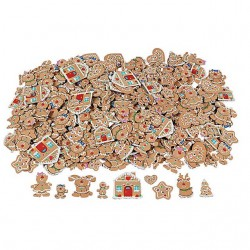 Foam Self-Adhesive Gingerbread Shapes -250pack