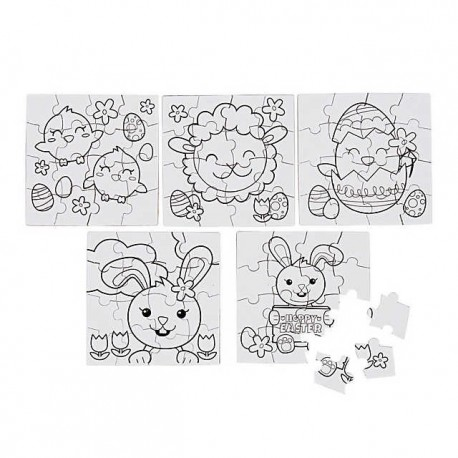 Colour Your Own Easter Puzzles - 50 pack