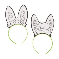 Color Your Own Bunny Ear Headbands - 10 pack