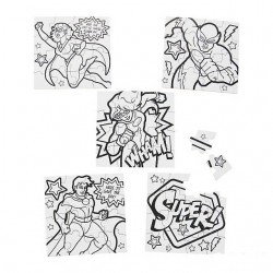 Color Your Own Superhero Mini Puzzle -50 pack