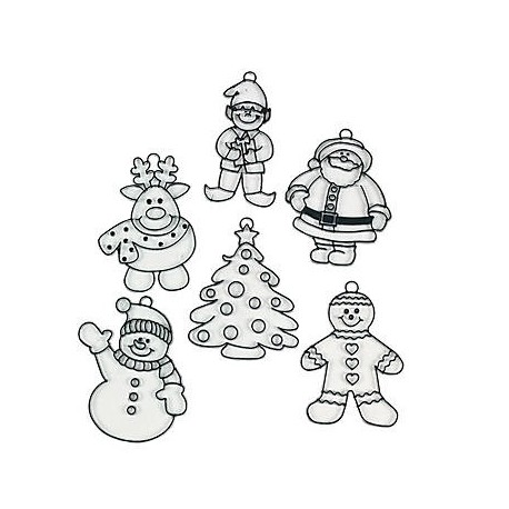 Colour Your Own Wooden Santa's Workshop