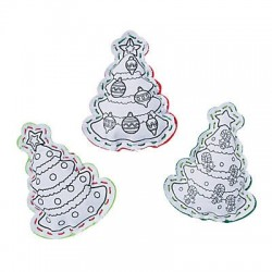 Color Your Own Christmas Tree Lacing Toy