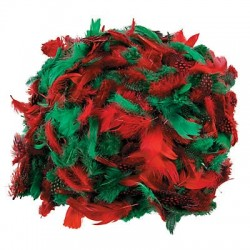 Chrsitmas Feather Assortment - 600pk