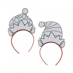Color Your Own Elf Headbands