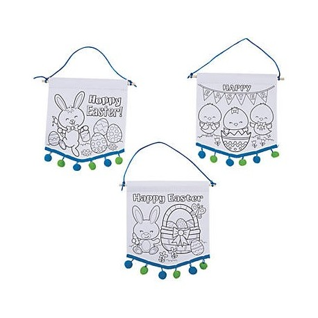 Color your Own Easter Banner Kit