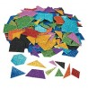Glitter Foam Geometric Self-Adhesive Shapes -500pack