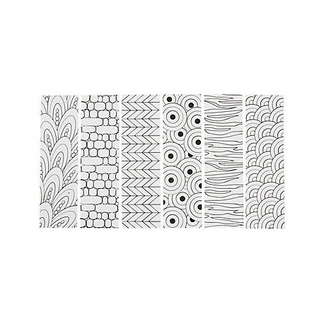 Color Your Own Cool Doodle Bookmarks -12pack