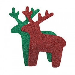 Glitter Reindeer Shapes -24pack