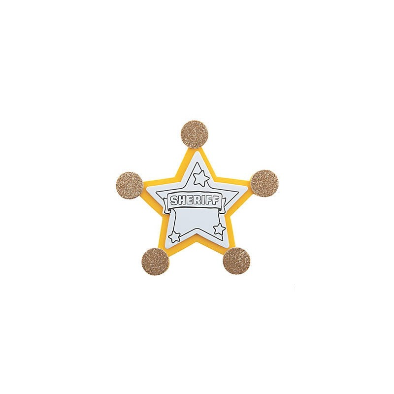 Sheriff Badge Pin Craft Kit - OSHC Craft Kits