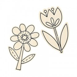 Colour Your Own Spring Flowers - 12pack