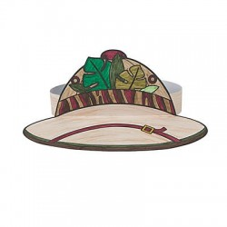 Colour Your Own Safari Hat -12pack