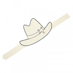 Color Your Own Western Hat - 12pack