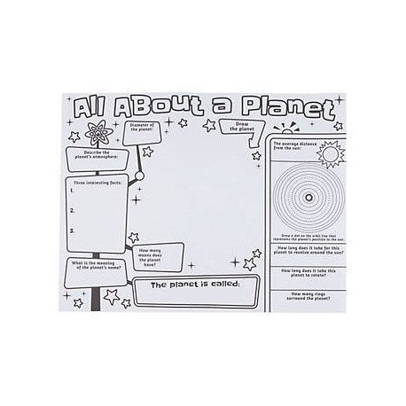 """Color Your Own """"All About a Planet"""" Posters- 30 pack"""