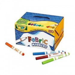 Crayola Fabric Markers 80 pack