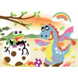 3D Foam Art Puzzle ~ Two Dinosaurs