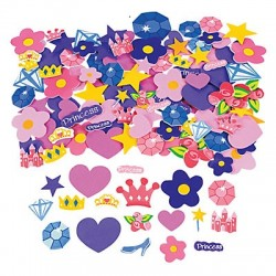 Adhesive Foam Princess Shapes 500 pack