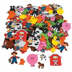 Self Adhesive Farm Yard Shapes 250 pack
