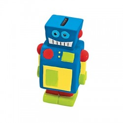 Ceramic Robot Money Box 12 pack