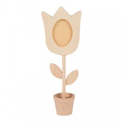 Wooden Flower Photo Holder 12 pack