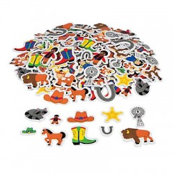 Cowboy Western  Foam adhesive shapes 250pcs