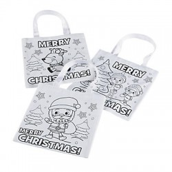 Colour Your Own Christmas Bag