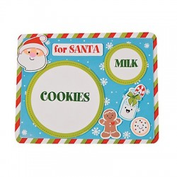 Santa's Milk & Cookies Placemat