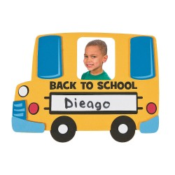 Back to School Bus Photo Frame