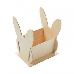 DIY Wooden Bunny Basket