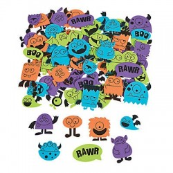 Adhesive Foam Monster Shapes - 250 pcs