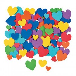 Self Adhesive Hearts - 250pk