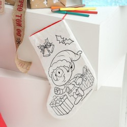 Colour Your Own Christmas Stocking - Cheeky Elf