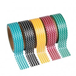 Zig Zag Washi Tape- 5 Pack