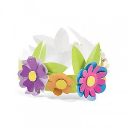Spring Flower Crown Craft Kit 12pack
