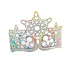 DIY Iridescent crowns - 12 pack