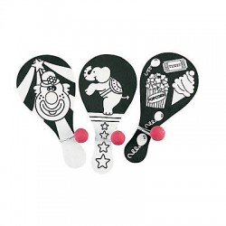 Wooden Color Your Own Fuzzy Circus Paddleball Game