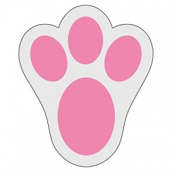Bunny Paw Print Floor Decals - 10pack