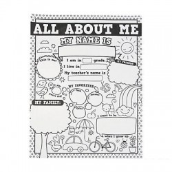 "Color Your Own ""All About Me"" Doodle Posters - 30pack"