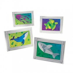 Under the Sea Mosaic Frame Craft Kits - 12pack