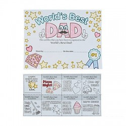 Colour Your Own Father's Day Magnets - 12pack