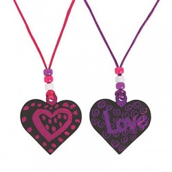 Magic Scratch Heart Necklace Craft Kit